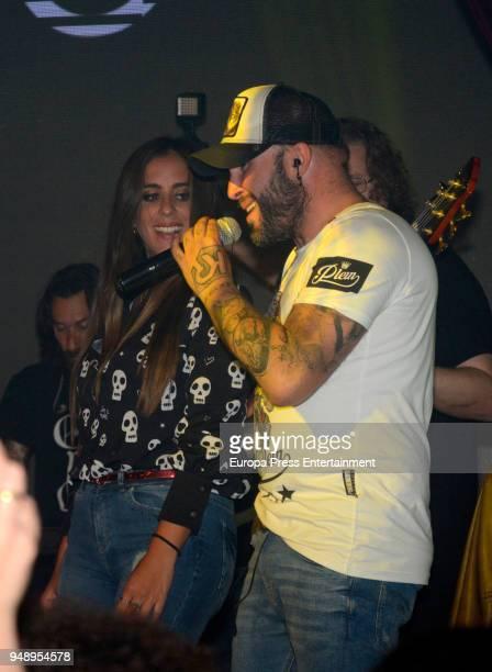 Anabel Pantoja attends Kiko Rivera's concert on April 6 2018 in Seville Spain