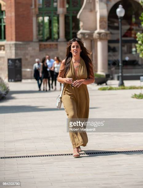 Anabel Pantoja attends the Barcelona 080 Fashion Week 2018 at the Recinte Modernista de Sant Pau on June 26 2018 in Barcelona Spain