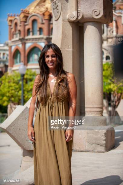 Anabel Pantoja attends the Barcelona 080 Fashion Week 2018 at the Recinte Modernista de Sant Pau on June 26 2018 in Barcelona Spain