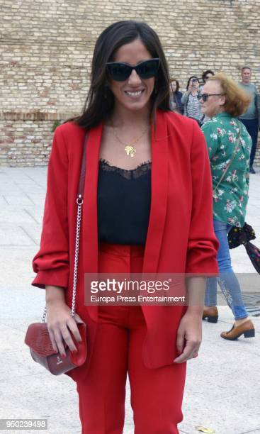 Anabel Pantoja attends the christening of Kiko Rivera and Irene Rosales's daughter Carlota Rivera on April 21 2018 in Seville Spain