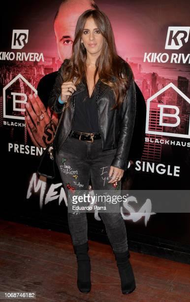 Anabel Pantoja attends the presentation of Kiko Rivera's new single 'Mentirosa' at Blackhaus disco on November 16 2018 in Madrid Spain