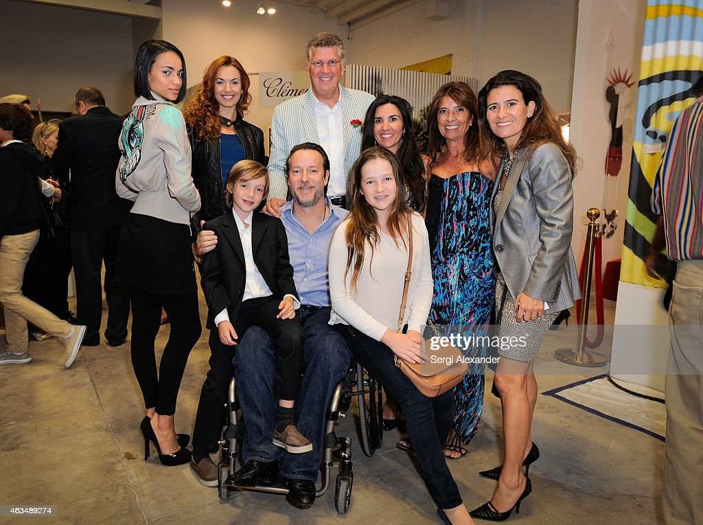 Anabel Santos, Vera Krnaca, Patrick Abada, Mikele Aboitiz, Gabrielle Hatchuel-Becker-Abada and Guntram von Habsburg attend the Fine Art Auction & Guntram von Habsburg Foundation Cocktail Reception Hosted By Hublot & Rhum Clement at SPACEBY3 on February 14, 2015 in Miami, Florida.