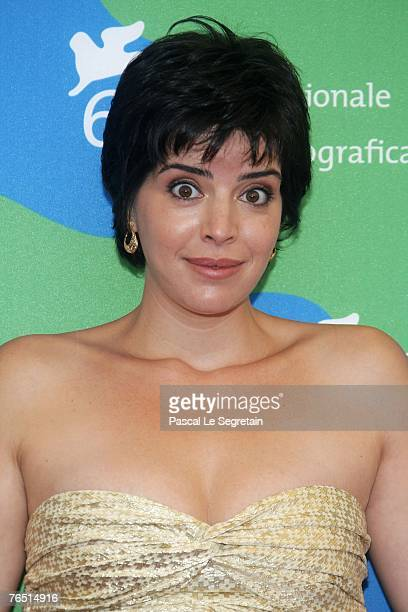 Anabela Moreira attends the Mal Nascida photocall in Venice during day 8 of the 64th Venice Film Festival on September 5 2007 in Venice Italy