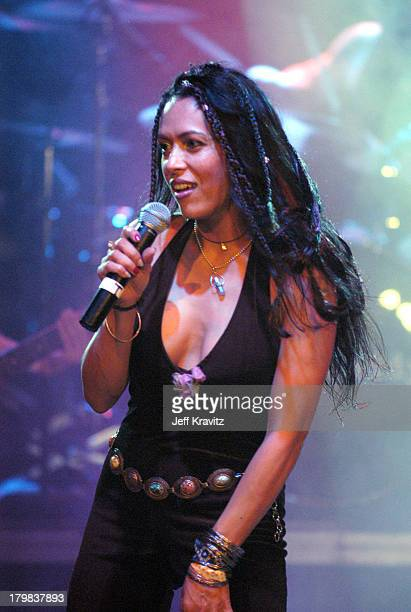 Anabella Lwin from Bow Wow Wow during Camp Freddy Benefit Concert for South East Asia Tsunami Relief at Key Club in Hollywood California United States