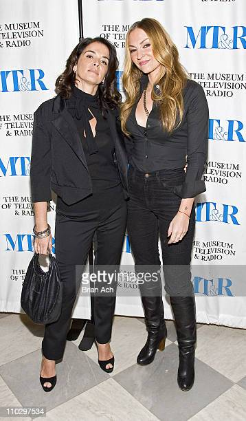 Anabella Sciorra and Drea de Matteo during The Museum of Television and Radio Presents 'The Whacked Sopranos' at Museum of Television Radio in New...