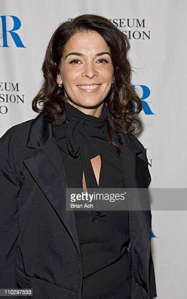 Anabella Sciorra during The Museum of Television and Radio Presents 'The Whacked Sopranos' at Museum of Television Radio in New York City New York...