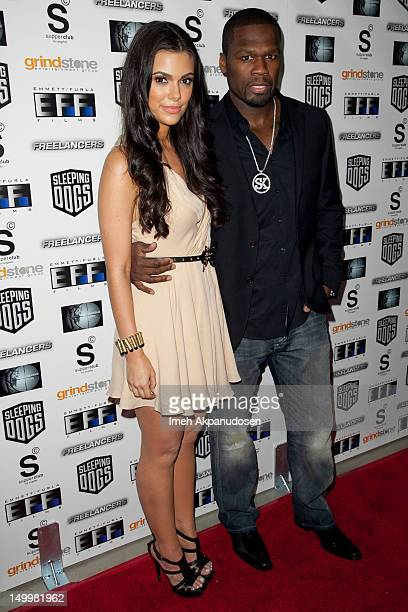 Anabelle Acosta and Curtis '50 Cent' Jackson attend the screening of 'Freelancers' at Mann Chinese 6 on August 7 2012 in Los Angeles California