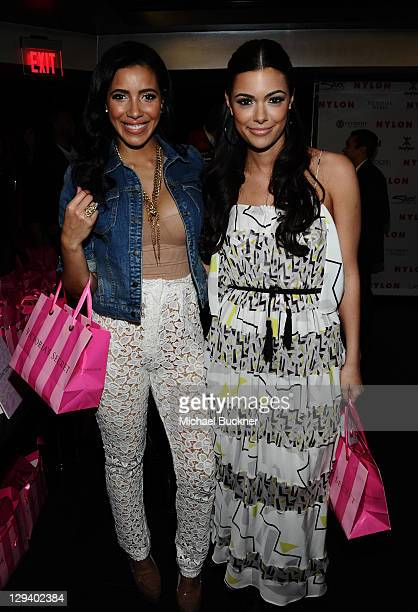 Anabelle Acosta and Julissa Bermudez attend the Nylon 12th Anniversary Party at Tru Hollywood on March 24 2011 in Hollywood California