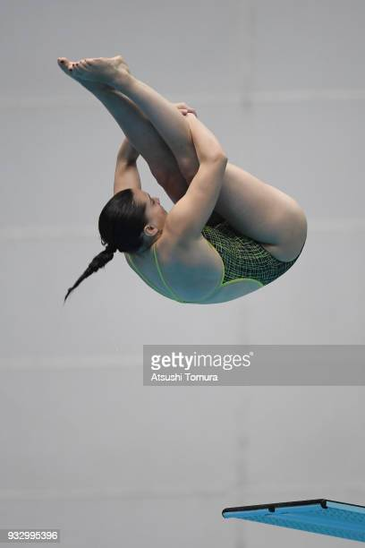 Anabelle Smith of Australia competes in the Women's 3m Springboard final during day three of the FINA Diving World Series Fuji at Shizuoka...