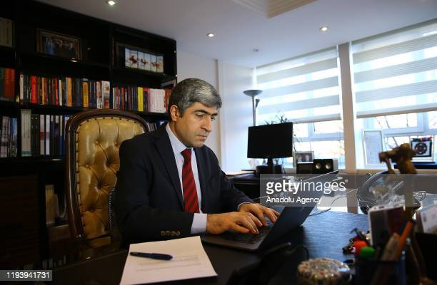 Anadolu Agency's deputy director general and the editorinchief Metin Mutanoglu is seen as he attends a live broadcast of local TRT News channel in...
