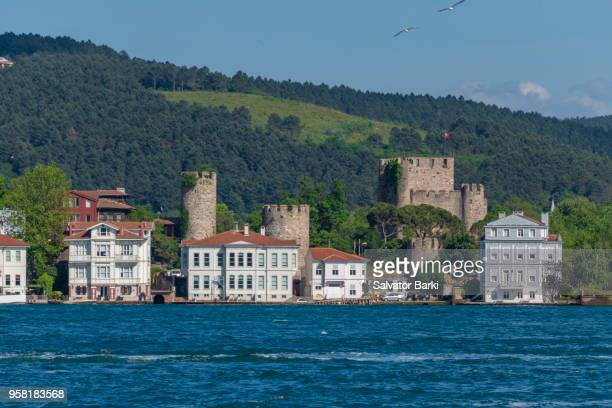 anadolu hisar fortress - istanbul province stock photos and pictures