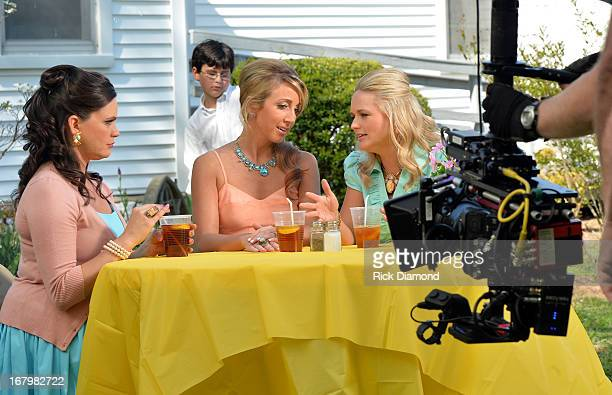 Anagleena Presley Ashley Monroe and Miranda Lambert on the set just in time for the release of their sophomore album Annie Up Pistol Annies unveil...
