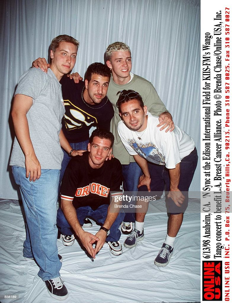 "6/13/98 Anaheim, CA. ""N Sync at the Edison International Field for KIIS-FM's Wango Tango concert to  : News Photo"