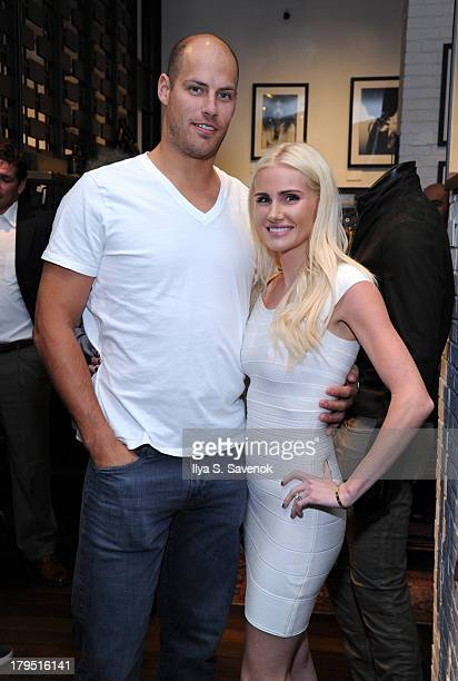 Anaheim Ducks captain Ryan Getzlaf and wife attend John Varvatos event as part of 2013 NHL/NHLPA Player Media Tour on September 4 2013 in New York...