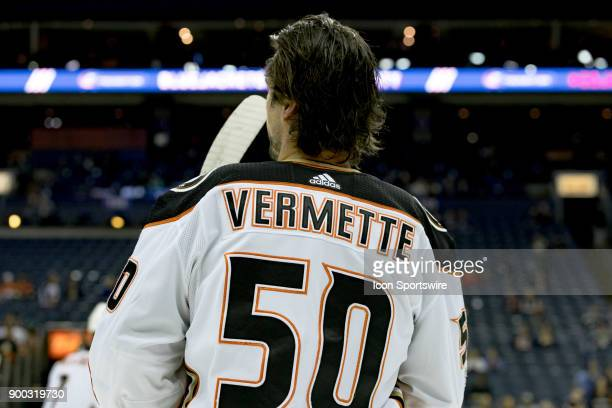Anaheim Ducks center Antoine Vermette before a game between the Columbus Blue Jackets and the Anaheim Ducks on December 01 at Nationwide Arena in...