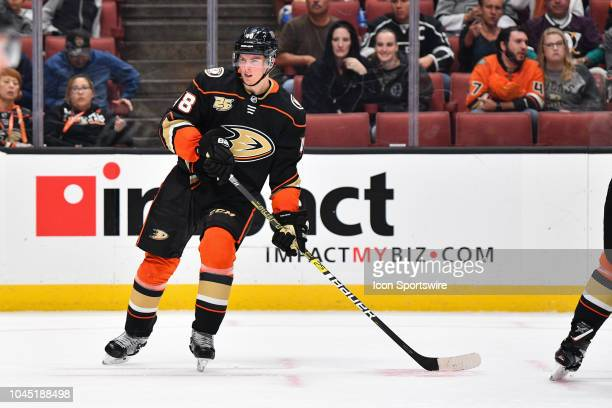 Anaheim Ducks center Isac Lundestrom in action during a NHL preseason game between the Los Angeles Kings and the Anaheim Ducks played on September 26...