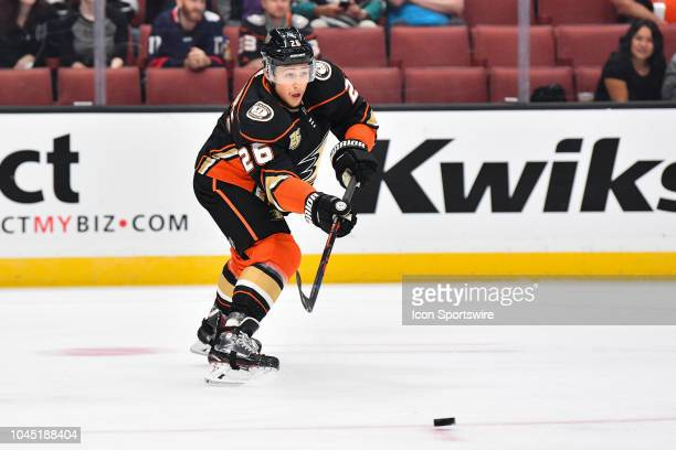 Anaheim Ducks defenseman Brandon Montour in action during a NHL preseason game between the Los Angeles Kings and the Anaheim Ducks played on...