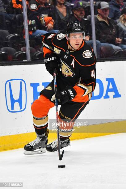 Anaheim Ducks defenseman Cam Fowler in action during a NHL preseason game between the Los Angeles Kings and the Anaheim Ducks played on September 26...