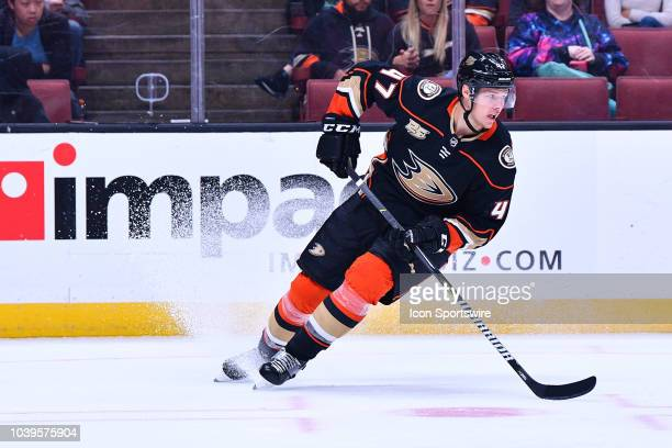 Anaheim Ducks defensemen Hampus Lindholm in action during a NHL preseason game between the Anaheim Ducks and the San Jose Sharks played on September...