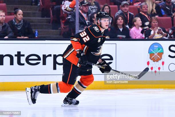 Anaheim Ducks defensemen Jacob Larsson in action during a NHL preseason game between the Anaheim Ducks and the San Jose Sharks played on September 20...
