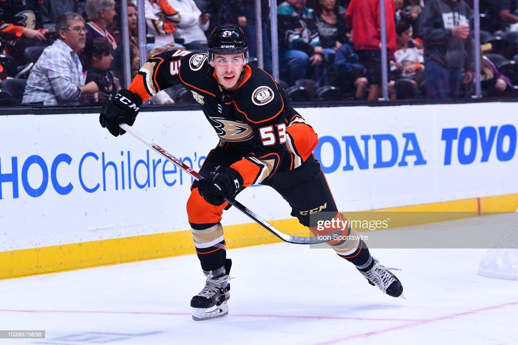 NHL: SEP 20 Preseason - Sharks at Ducks : News Photo