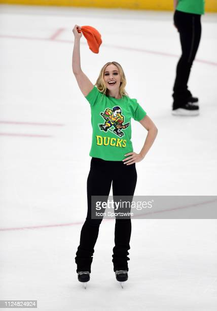 Anaheim Ducks power player on the ice after the Ducks defeated the Vancouver Canucks 1 to 0 in a game played on February 13 2019 at the Honda Center...