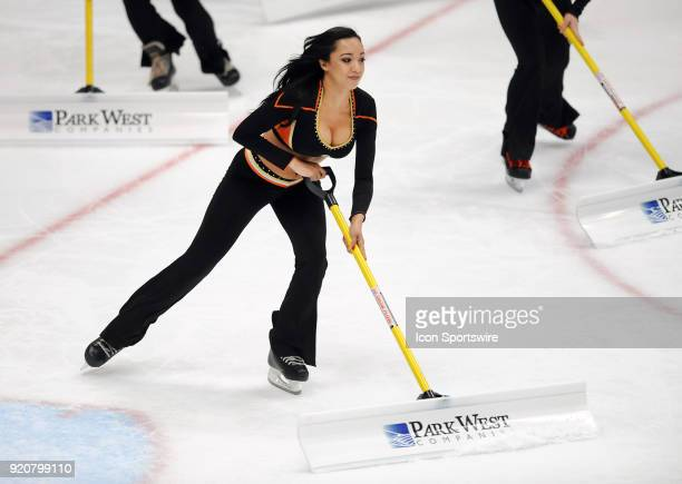 Anaheim Ducks power player on the ice during a break in the action of the second period of a game against the Vegas Golden Knights on December 27...