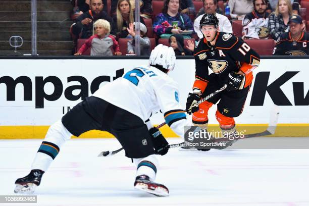 Anaheim Ducks right wing Corey Perry in action during a NHL preseason game between the Anaheim Ducks and the San Jose Sharks played on September 20...