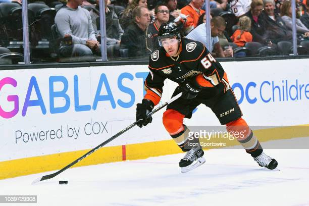 Anaheim Ducks right wing Kiefer Sherwood in action during a NHL preseason game between the Arizona Coyotes and the Anaheim Ducks played on September...