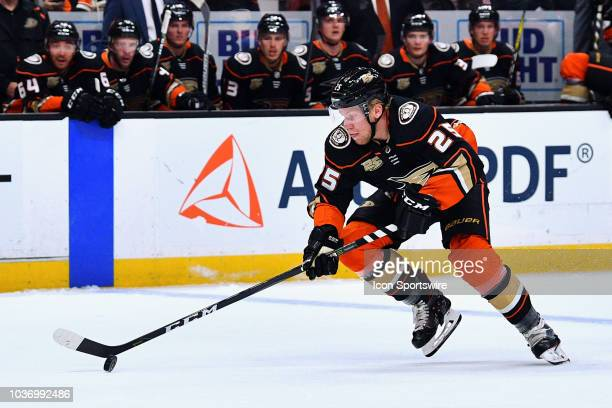 Anaheim Ducks right wing Ondrej Kase in action during a NHL preseason game between the Anaheim Ducks and the San Jose Sharks played on September 20...