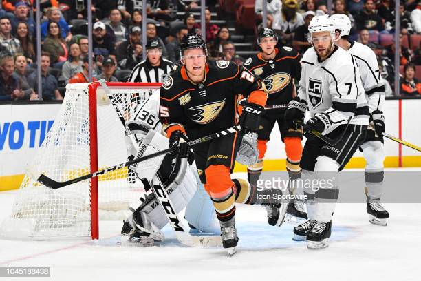 Anaheim Ducks right wing Ondrej Kase in action during a NHL preseason game between the Los Angeles Kings and the Anaheim Ducks played on September 26...