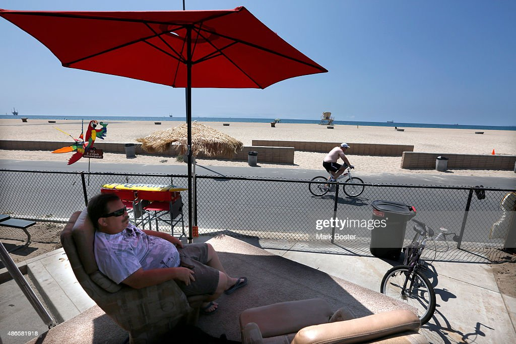 Anaheim Resident Brian Kraft Watches The World Go By His Bolsa Chica State  Beach Campsite Complete