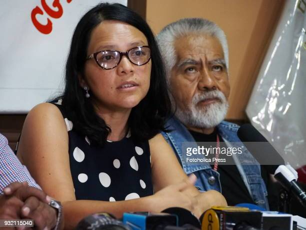 Anahi Durand and left political groups union leaders and activist organizations announced at the headquarters of the Central General of Workers of...