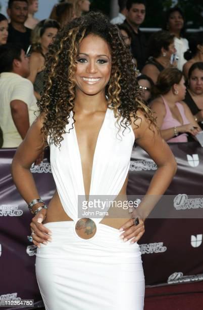 Anahi during 2005 Premios de la Juventud - Arrivals at University of Miami in Coral Gables, Florida, United States.