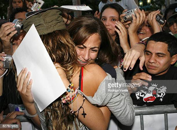 Anahi from RBD Rebelde during RBD Rebelde Autograph Signing a Univision Radio at Univision Radio in Miami Florida United States