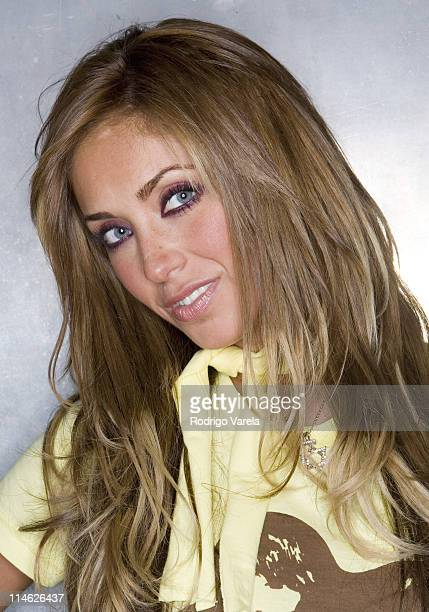 Anahi from RBD Rebelde during RBD Rebelde Portrait Session at Pawn Shop in Miami Florida United States