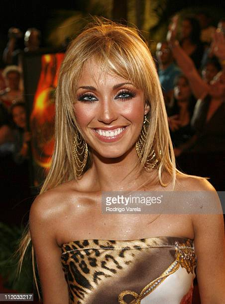 Anahi from 'Rebelde RBD' during 2006 Premio Lo Nuestro Red Carpet Arrivals at American Airlines Arena in Miami Florida United States