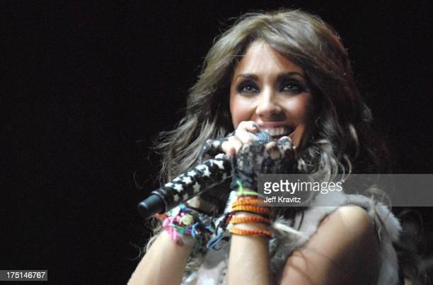 Anahi Giovanna Puente Portillo of RBD during 1027 KIIS FM 'Jingle Ball' 2006 at Honda Center in Anaheim CA United States