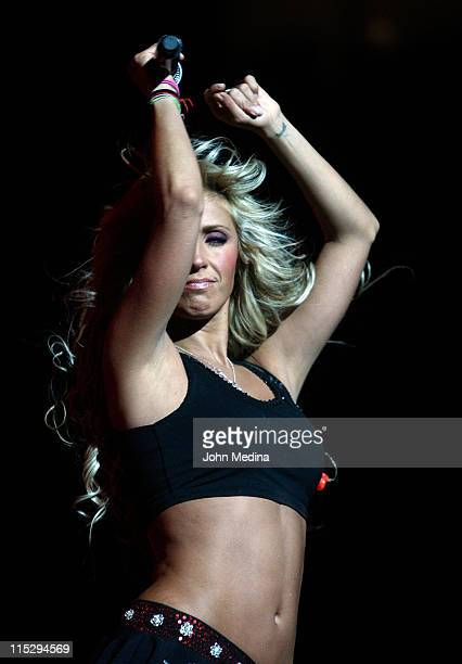 Anahi of Latino musical group RBD perform at HP Pavilion on April 4 2008 in San Jose California