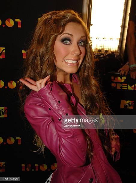 Anahi of RBD arrives at the Los Premios MTV Latin America 2007 at the Palacio de los Deportes on October 18 2007 in Mexico City Mexico