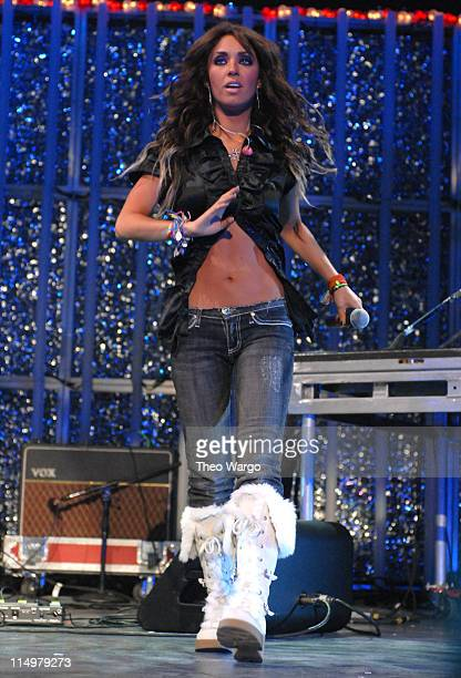 Anahi of RBD performs 'Tu Amor' during Z100's Jingle Ball 2006 Show at Madison Square Garden in New York City New York United States