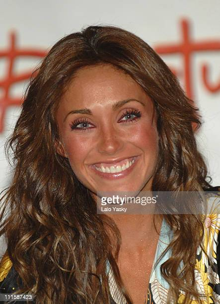 Anahi of RBD Rebelde during RBD Rebelde Press Conference in Madrid January 8 2007 at Palace Hotel in Madrid Madrid Spain