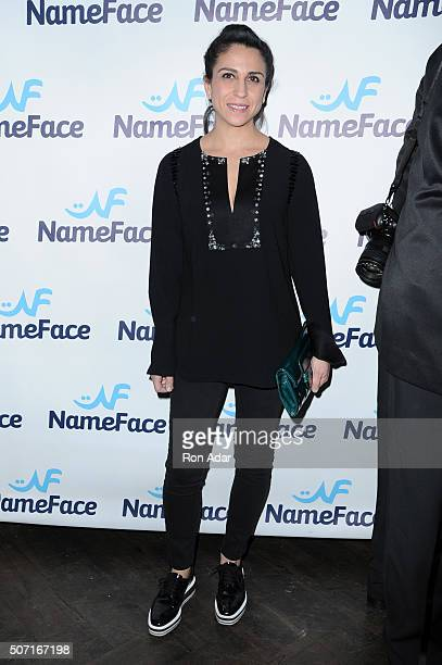 Anahita Moussavian attends the NameFacecom launch at No 8 on January 27 2016 in New York City