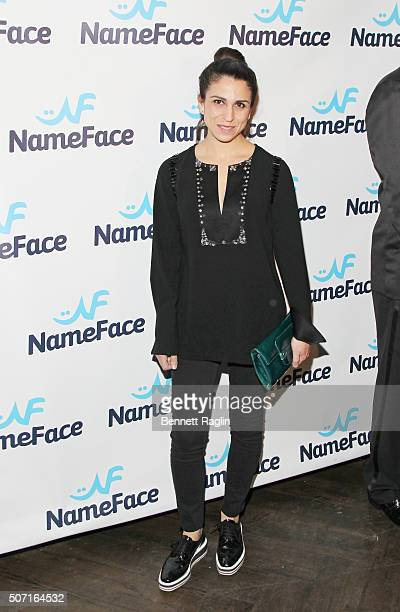 Anahita Moussavian attends the NameFacecom launch party at No 8 on January 27 2016 in New York City