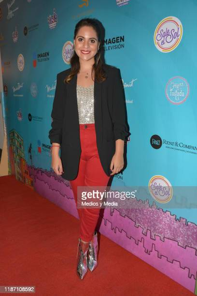 Anaid Jimenez poses for photos during the Red Carpet of 'Sale El Sol' third anniversary party on November 11 2019 in Mexico City Mexico