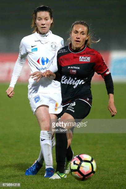 Anaig Butel during the Women's Division 1 match between Juvisy and Guingamp on May 6, 2017 in Evry, France.