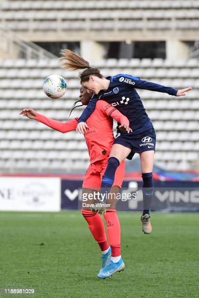 Anaig BUTEL of Paris FC and Marie Antoinette KATOTO of PSG during the Division 1 match between Paris FC and Paris SaintGermain on December 15 2019 in...