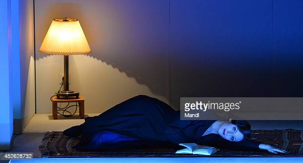 Anaik Morel is seen during the photo rehearsal of 'Charlotte Salomon' at Felsenreitschule on July 24 2014 in Salzburg Austria