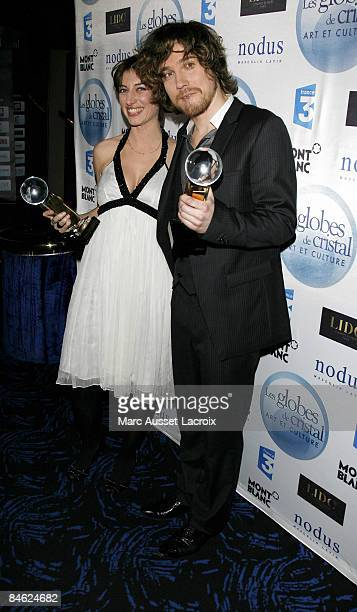 Anais and Julien Dore attends Globes of Cristal Awards for Art and Culture on February 2 2009 in Paris France