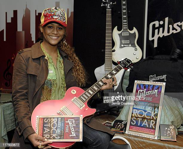 Anais at the Gibson Guitar Gift Station during The 7th Annual Latin GRAMMY Awards Backstage Lounge by Distinctive Assets Day 2 at Madison Square...